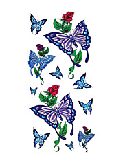 6 Pcs Butterfly Mixed Temporary Tattoo