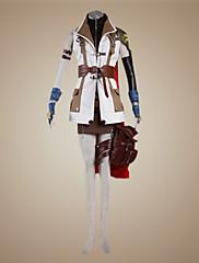 Inspirovaný Final Fantasy Lightning Video Hra Cosplay kostýmy Cosplay šaty Patchwork Biały Hnědá Dlouhé rukávyKabát Vrchní deska Sukně