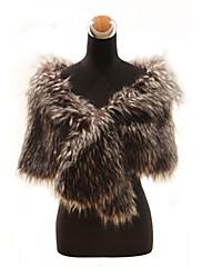 Elegantní dlouhé vlasy umělé kožešiny liška kožíšek zvláštní příležitosti šátek (více barev)