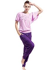 komfortní modální přátelské k pokožce jemné tenké krátký rukáv jóga oblek