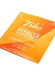 ジコ010から048の高品位リン青銅アコースティックギターの弦