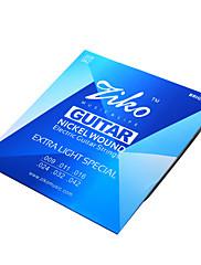 ジコ009から042の高品位ニッケル傷エレキギターの弦