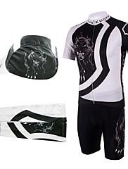 jízda na kole BIB obleky s víčkem a Návleky na ruce (bílá a černá)