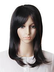 capless móda dlouhé rovné vlasy paruka