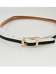 rafinované slitina módní lady kožený pásek bílá černá