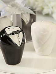 Keramický Praktické ODMĚNY-2 kuchyňská náčiní Klasický motiv Bílá / Černá 8*3.5*6cm Stuhy / Cedulka