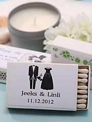 Wedding Décor Personalized Matchboxes - Happiness (Set of 12)