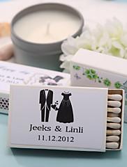 decoración de la boda cajas de fósforos personalizados - la felicidad (juego de 12)