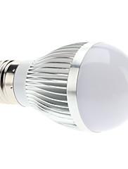 E27 3W 6x5630 SMD 270-290LM 6000-6500KナチュラルホワイトLEDライトボールバルブ(85-265V)