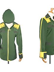 Inspirovaný Suzumiya Haruhi Itsuki Koizumi Anime Cosplay kostýmy Cosplay Topy / Bottoms Patchwork Zielony Dlouhé rukávy Kabát / Klobouk