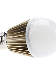 E27 9W 870-890LM 6000-6500KナチュラルホワイトライトグレーシェルLEDのボールバルブ(110-240V)