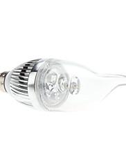 E14 3W 270-290LM 3000-3500KウォームホワイトライトLEDキャンドル電球(85-265V)