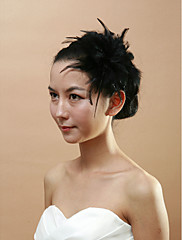 čelenky Svatební černých péřových dámské