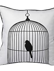 pták v kleci dekorativní polštář