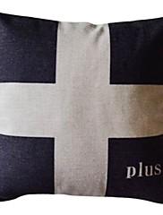 プラスコットン/リネン装飾的な枕カバー
