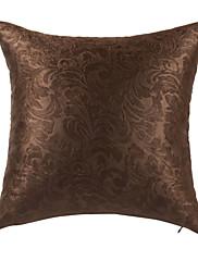 květinové hnědá polyester dekorativní polštář