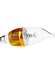 3W E14 LEDキャンドルライト CA35 3 ハイパワーLED 290 lm 温白色 装飾用 / 明るさ調整 AC 110-130 / 交流220から240 V