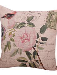 retro cvjetni pamuka / lana dekorativne jastuk poklopac