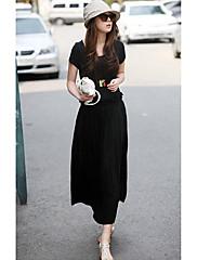 bljy černá maxi houpačka jersey bavlněné šaty
