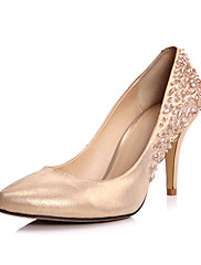 Beautiful Leather Stiletto Heel Pumps With Beading Party / Evening Shoes