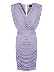 ファッションコレクションOLスタイルVネックBodyconドレス