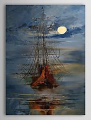 ručně malované olejomalba krajina loď 1303-ls0250