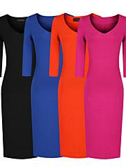 ファッションコレクション2月3日スリーブBodyconプライマードレス