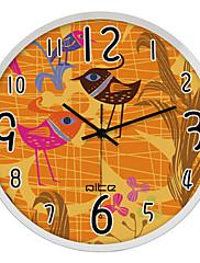 """12 """"h karikatura pták z nerezové oceli nástěnné hodiny"""