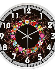 """12 """"h moderní květinový nerezové oceli nástěnné hodiny"""