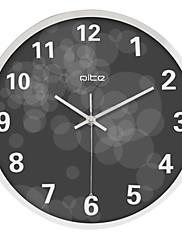 """12 """"h moderní kruhy z nerezové oceli nástěnné hodiny"""
