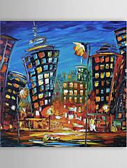 手描きの 風景 / 抽象的な風景画 1枚 キャンバス ハング塗装油絵 For ホームデコレーション