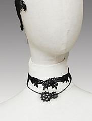 Crna čipka ručne opreme punk lolita ogrlicu