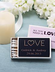 decoración de la boda cajas de fósforos personalizados - amor (juego de 12)