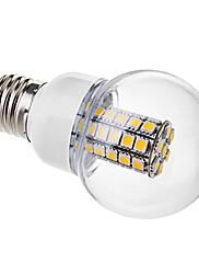 6W E26/E27 LEDボール型電球 G60 47 SMD 5050 530 lm 温白色 交流220から240 V