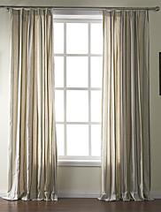 2パネル ウィンドウトリートメント 地中海風 , 縞柄 リネン 材料 カーテンドレープ ホームデコレーション For 窓