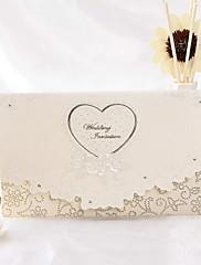 古典的なハートデザインの結婚式の招待(50セット)