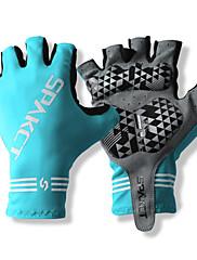 SPAKCT S13G03耐久性ポリエステルとVinylal材料サイクリング自転車-Blueのハーフフィンガーグローブデザイン