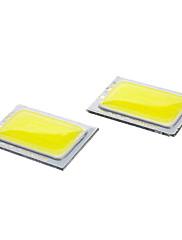 DIY 30x20mm 1.5W 6000-6500K 150-180LMホワイトライトCOB LED投光器(2個,9-11V)