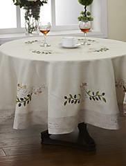 """直径71 """"ラウンド伝統的なカーキ色の花のテーブルクロス(ランダム色)"""