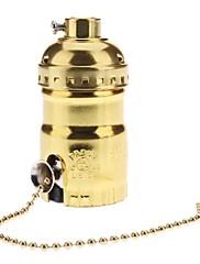 スイッチ付E26黄金色のベース電球ソケットランプホルダー
