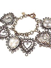 Móda z lehkých slitin s náramkem drahokamu / Pearl ve tvaru srdce žen