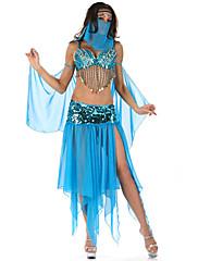 アラビアの仮面ダンサーブルーシアー女性のドレス