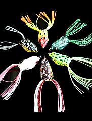 měkká návnada žába 40 mm 6 g ocas měkký povrch vodní rybářské návnady se dvěma háčky