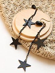 Slitina s perlami Tassel a Star náušnice