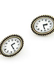 ヴィンテージ合金時計型女性のイヤリング