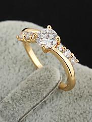 Pozlacený bronz zirkon Prsten J0760