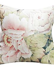 """18 """"スクエアの咲く牡丹プリントポリエステル装飾的な枕カバー"""