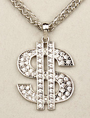 ヒップホップスタイルドル$ $ロング合金のネックレスに署名