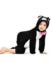 黒猫フランネルキッズ着ぐるみパジャマ