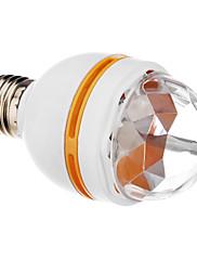 Zvuk Actived E27 3W RGB LED Mini plnobarevný Rotační lampa Stage Disco Party (85-260V)